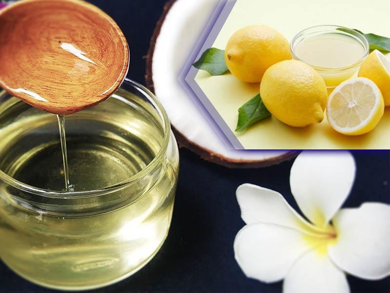 Làm trắng da bằng dầu dừa và nước cốt chanh