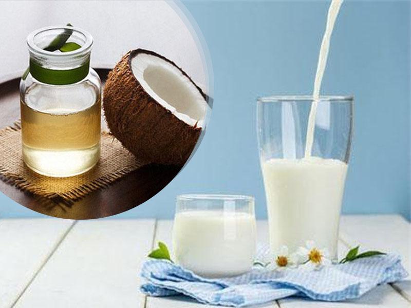Tắm trắng body bằng dầu dừa và sữa tươi
