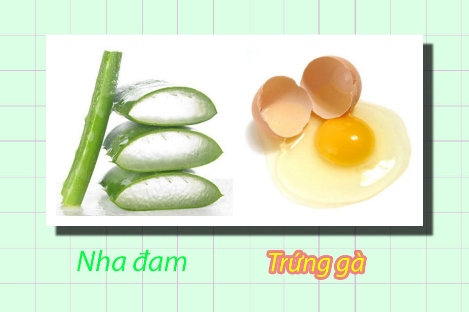Mặt nạ nha đam và trứng gà trị tàn nhang